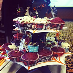 Bloody red velvet #cupcakes #halloween