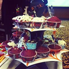 Bloody red velvet #cupcakes #halloween