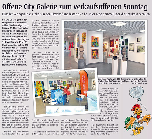 Art Exhibition Urban sketchers Bremen by manfred schloesser