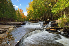 Whitefish Falls Michigan's Upper Peninsula by Michigan Nut