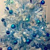 My #christmas tree - crystal, teal and #blue this year! #colour #light #holidays