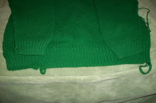 sweater repair area