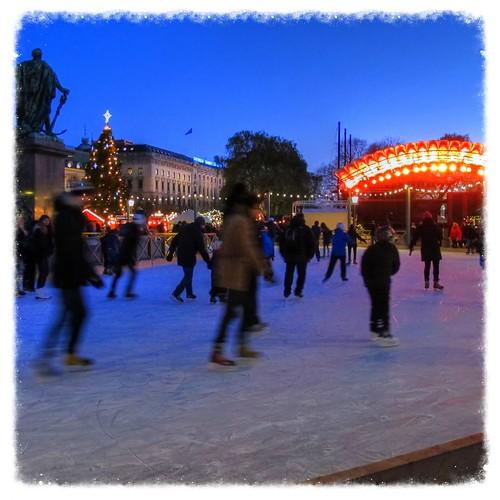 Ice-skating in Kungsträdgården, Stockholm at 4pm Saturday 30th November 2013 by sawelli
