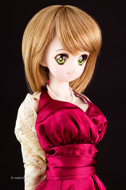 [DDS] Mayu: Burgundy prom dress (2)