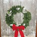 Sun, 12/08/2013 - 1:00pm - Deck the Halls wreath in snowy window
