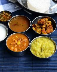 mocha kotta kuzhambu, chow chow kootu, seppankizhangu curry, rasam