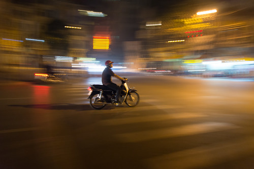 A night rider in Hanoi by kewl