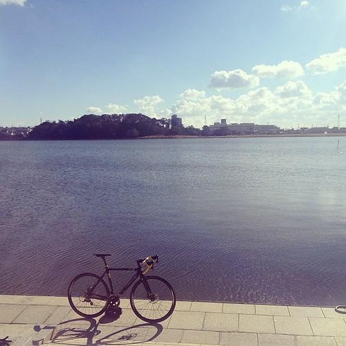 Beautiful day. #lake #bike