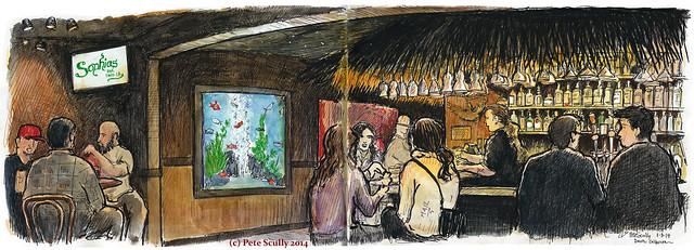 sophia's bar, davis