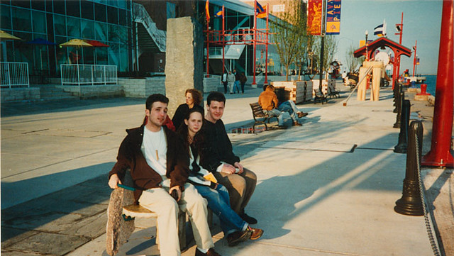Matt Maldre, Tammy K, Dima Strakovsky at Navy Pier, circa 1996