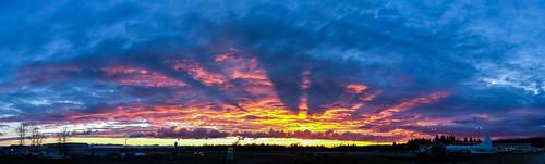 panorama sunrise airport