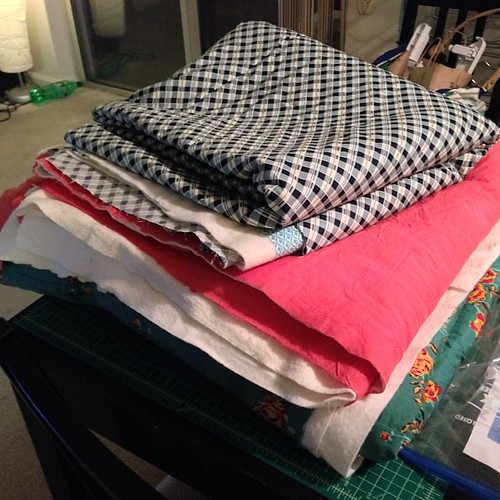 3 quilts basted. One top done (and basted). Bed now. #latenight