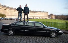 Rover 827 Limo at The Royal Crescent