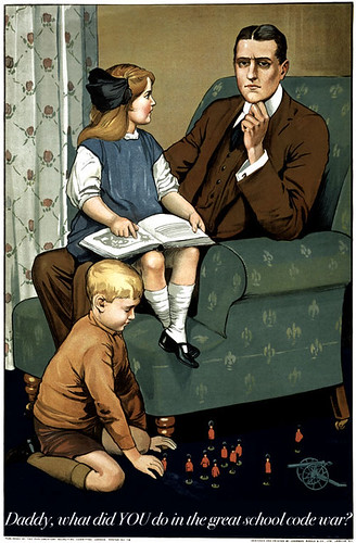 What did YOU do in the great school code war, daddy?