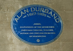 Photo of Alan Durband blue plaque
