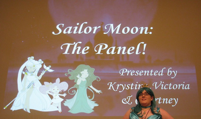 Krystina Plekan presents a Sailor Moon panel