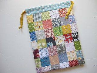 A patchwork project bag