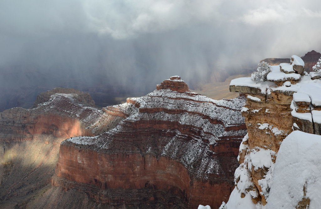 Grand Canyon National Park Winter Storm From Mather Point
