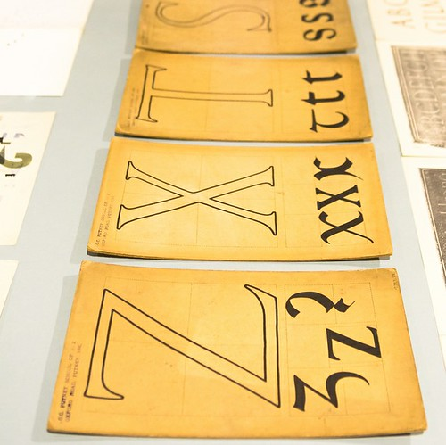 History of Lettering and Type. Lethaby Gallery. CSM. crop                          25/February/2014