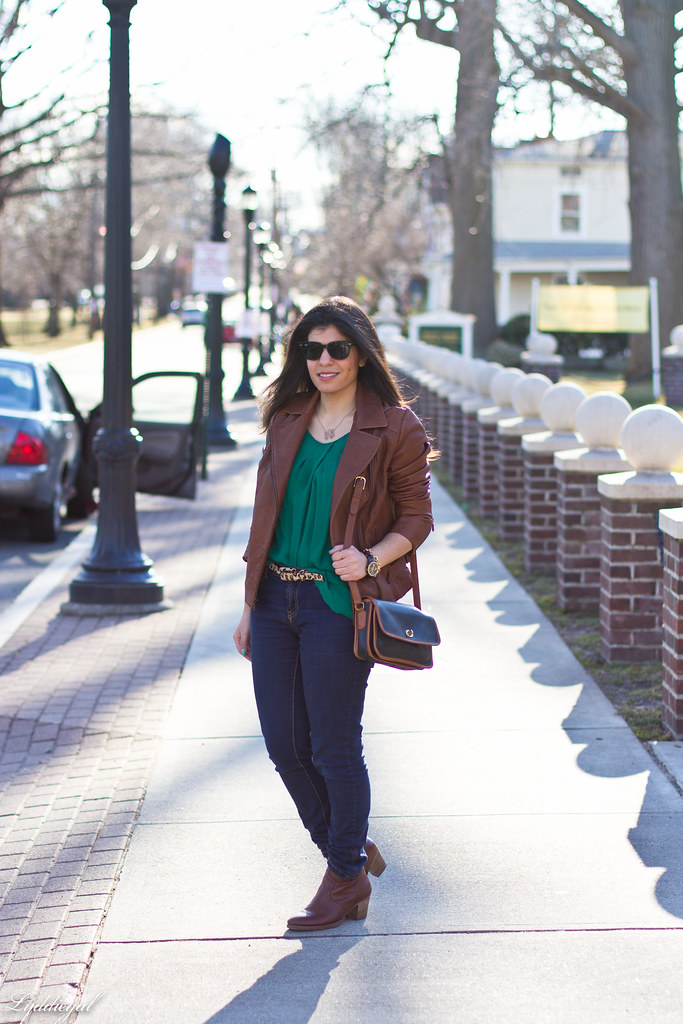 green blouse, brown leather jacket.jpg