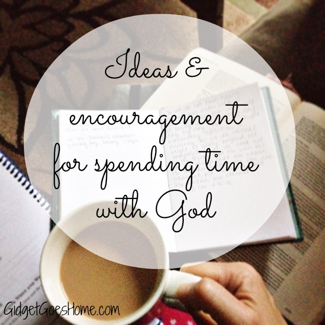 ideas and encouragement for quiet times