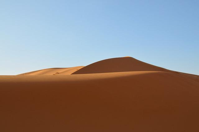 Dunas que vimos durante la excursión al desierto del Sahara