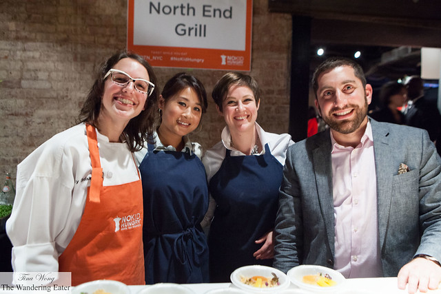 The pastry team of North End Grill with Executive Pastry Chef Tracy Obolsky