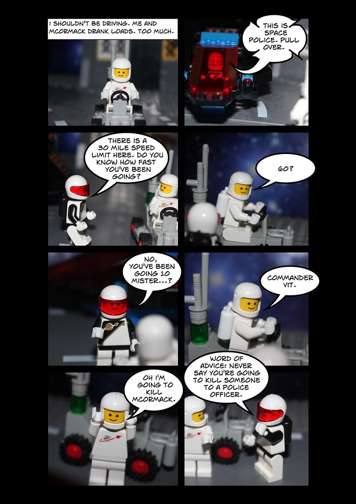 A sample comic from A Brickish Space Comic