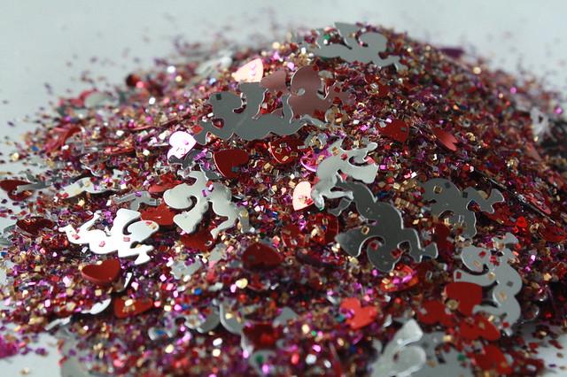 a heap of Valentine's glitter