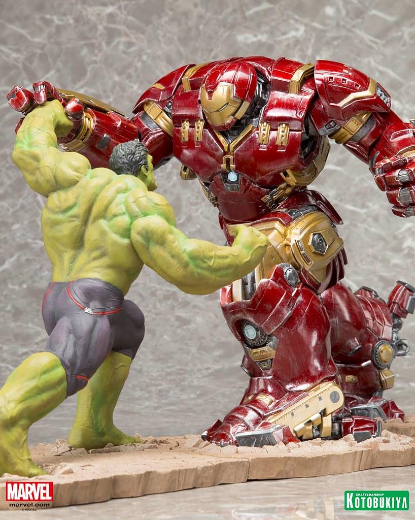 壽屋 ARTFX+ 系列【浩克毀滅者】復仇者聯盟2:奧創紀元 1/10 比例 全身雕像 HULKBUSTER IRON MAN