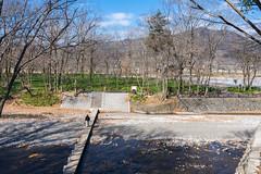 高麗峠を越えて巾着田へ・・・高麗川に架かるドレミファ橋を渡る
