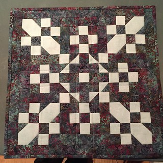 Aurifil 2015 January mini quilted and bound