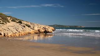 Image of Cala Romana Beach with a length of 133 meters. sea españa costa coast mar spain catalonia catalunya cataluña tarragona costadaurada