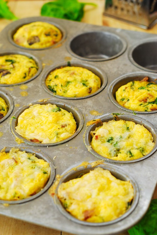 Breakfast muffins with eggs, bacon recipes, gluten free muffins