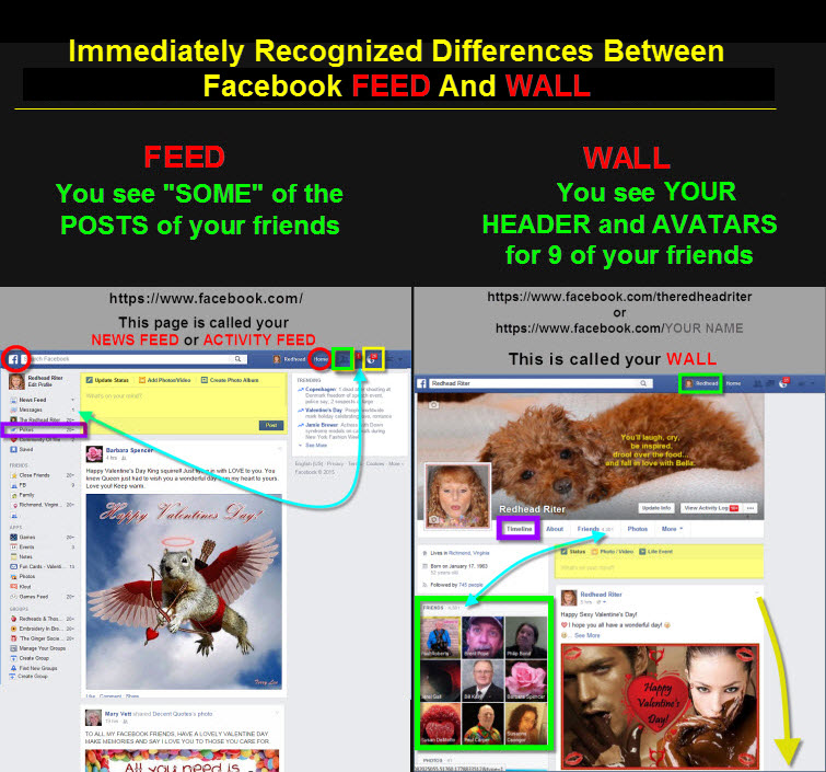 differences between facebook wall and feed - what you'll see and what you'll miss
