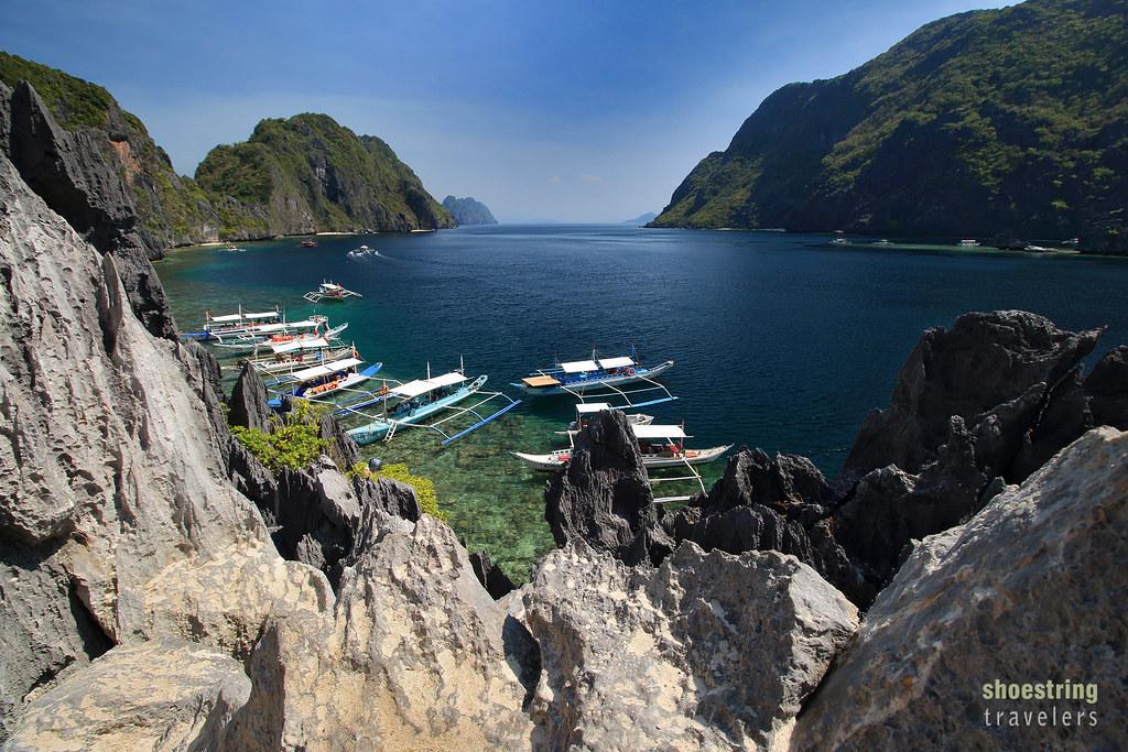 view of Matinloc Island, Tapiutan Strait and Tapiutan Island, El Nido