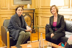 dt., 10/05/2016 - 16:06 - Ada Colau rep la secretària general d'Eurocities