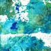 Blue and Green Art - Imagine - Sharon Cummings