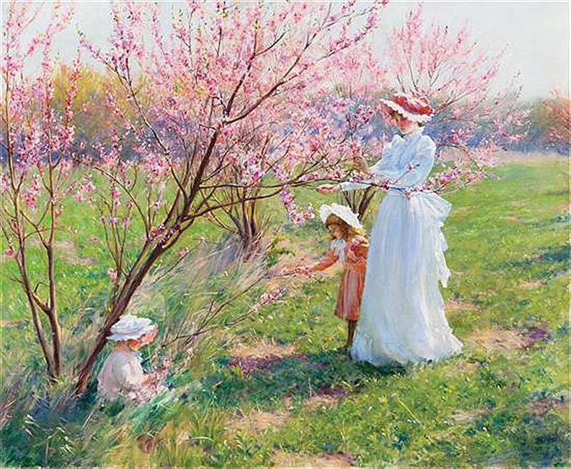 Peach Blossoms by Charles Courtney Curran - 1891
