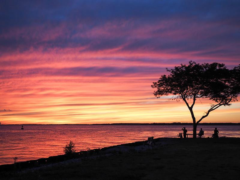 Lake Erie sunset in Sandusky