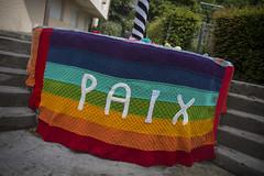 Yarn bombing Besançon 57