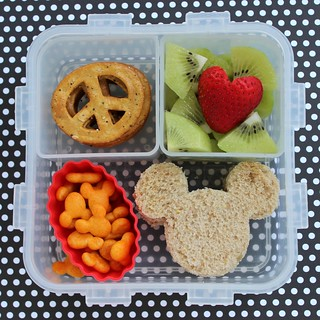 Peace Love and Mickey Mouse - preschool bento box lunch