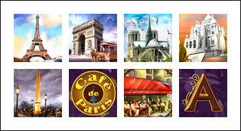 free Café de Paris slot game symbols