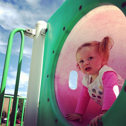 Light #fmsphotoaday I liked the light on Molly at the playground this afternoon