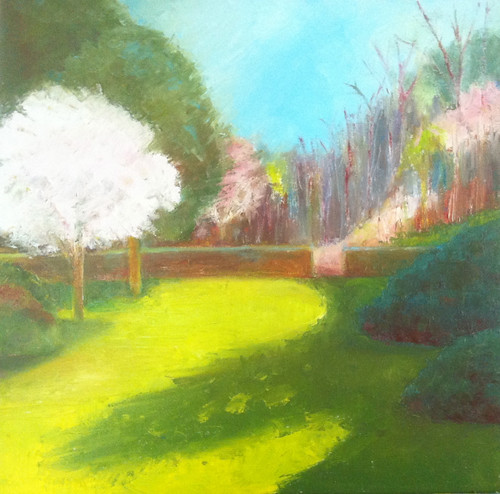 First of May at Long Hill (Oil Bar Painting as of May 24, 2013) by randubnick