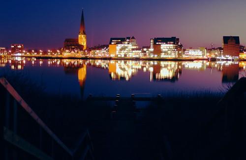 Sonnenuntergang in Rostock 02