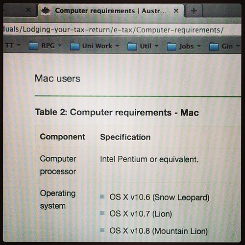 #MacOSX 10.8 on a Pentium? Not sure you could even get 10.6 to run on one #ATO