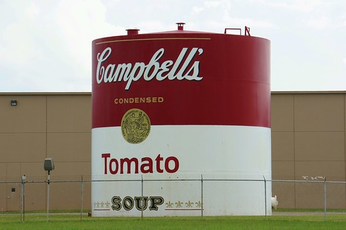Giant Campbell's Tomato Soup Can - Napoleon, Ohio