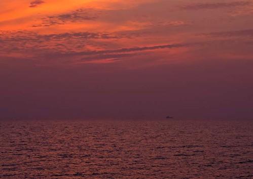 sunset sea seasia miri sarawak malaysia borneo