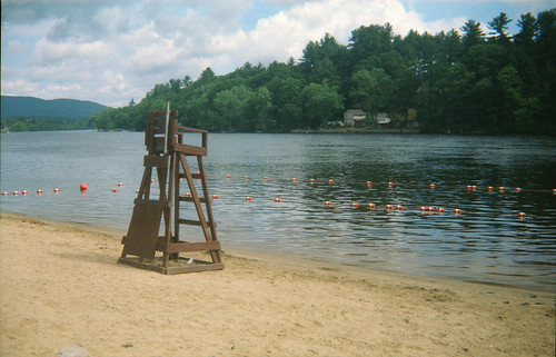 Lifeguard chair along Sacandaga Lake, Corinth, N.Y.